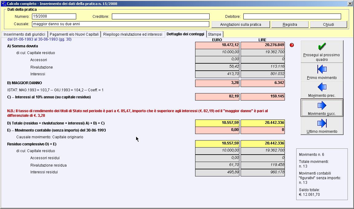 Calcolo del maggior danno con utilizzazione del tasso for Calcolo istat